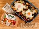 Рецепта Спанак с яйца печен на фурна